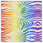 Rainbow Zebra Print Bold and Bright LGBT Fabric