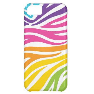 Rainbow Zebra Print Case For iPhone 5C