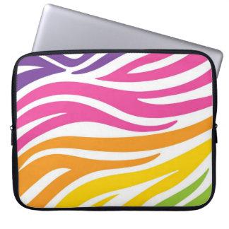 Rainbow Zebra Print Laptop Sleeve