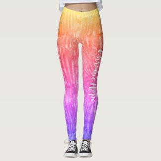 Rainbow Zebra Print Leggings
