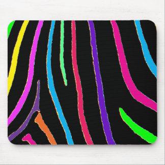 Rainbow Zebra Print Mouse Pad