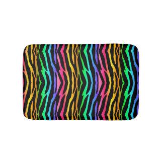 Rainbow Zebra Safari Animal Print Bath Mat
