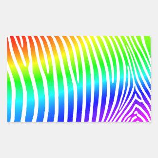 Rainbow Zebra Stripes Sticker