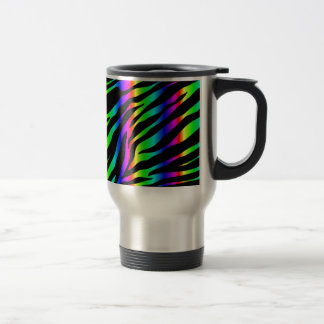 rainbow zebra travel mug