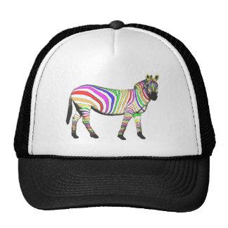 Rainbow Zebra Trucker Hat