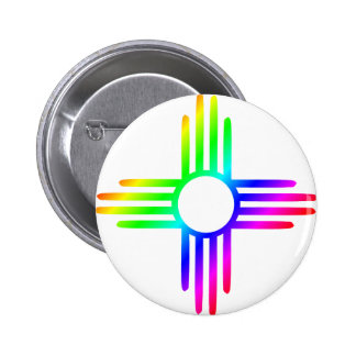 Rainbow Zia 2 Inch Round Button