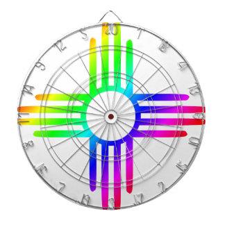 Rainbow Zia Dartboard