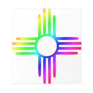 Rainbow Zia Notepad