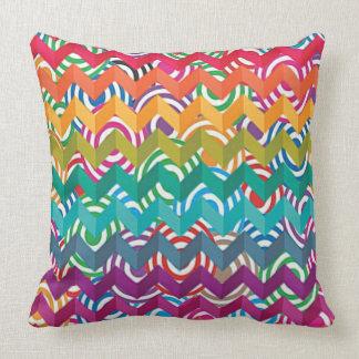 Rainbow Zig Throw Pillow