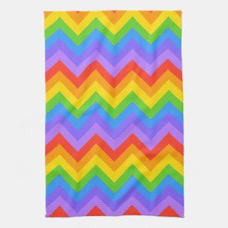 Rainbow Zig Zag Pattern. Kitchen Towel