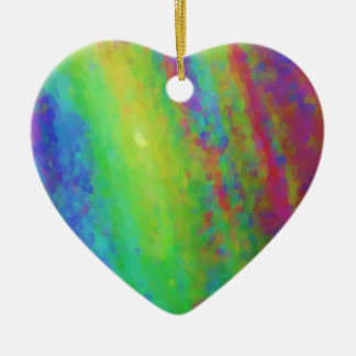 RainbowArte Ceramic Heart Ornament