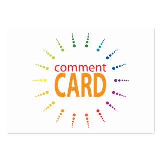 rainbowBurst de carte de commentaire Carte De Visite Grand Format