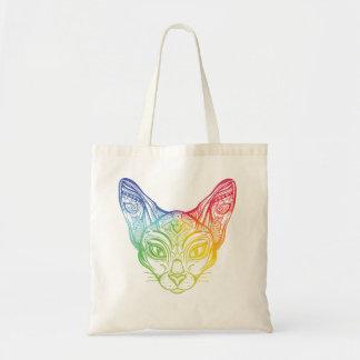 rainbowcat tote
