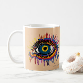 Rainboweye - pale skin coffee mug