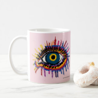 Rainboweye - rosé coffee mug