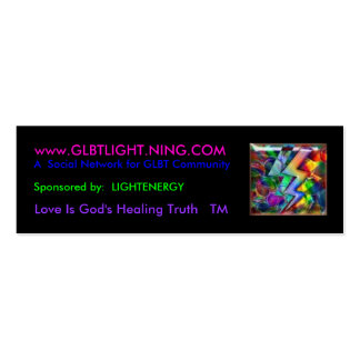 rainbowlight, www.GLBTLIGHT.NING.COM, A  Social... Mini Business Card