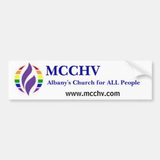 rainbowMCCLogo, Albany's Church for ALL People,... Bumper Sticker