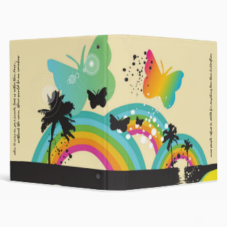 Rainbows and Butterflies Binder
