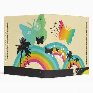 Rainbows and Butterflies Vinyl Binder