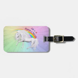Rainbows and Unicorns Luggage Tag