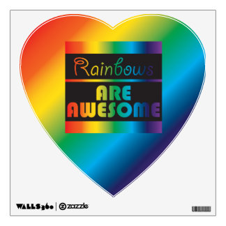 Rainbows Are Awesome Wall Sticker