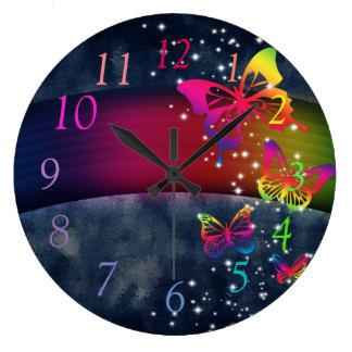 Rainbows n Butterflies Clock