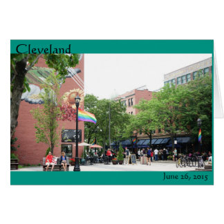 Rainbows over Cleveland Card