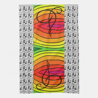 Rainbows Pop Art Designer Musical Music Decor Towels