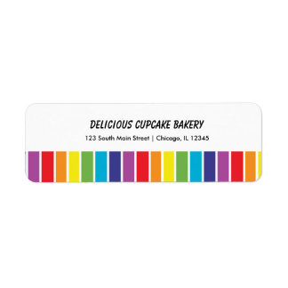 Rainbows Return Address Label