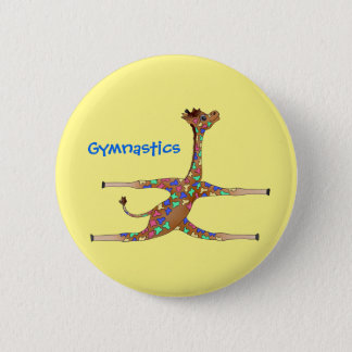 Rainbwo Gymnastics by The Happy Juul Company 2 Inch Round Button