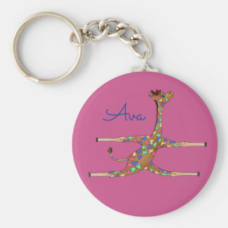 Rainbwo Gymnastics by The Happy Juul Company Keychain