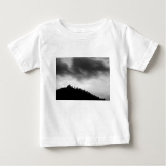 Rainclouds over church baby T-Shirt