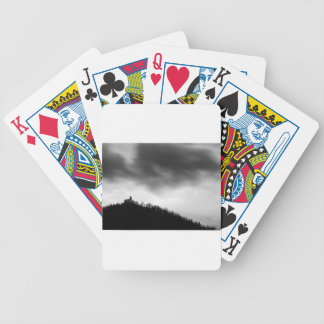 Rainclouds over church bicycle playing cards