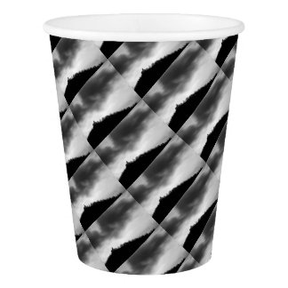 Rainclouds over church paper cup
