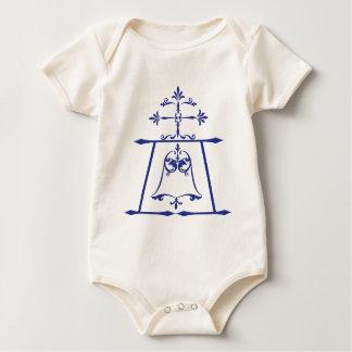 Raincross - Blue - Connie Lea Design Baby Bodysuit