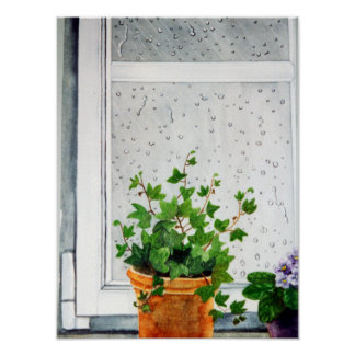 Raindops on my Window Poster