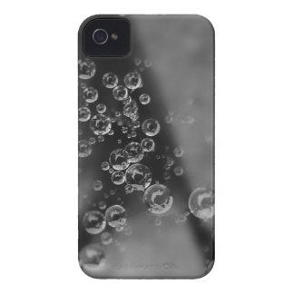 Raindrop Bubbles Black and White Photo Case-Mate iPhone 4 Cases