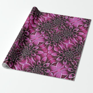 Raindrop Dahlias Wrapping Paper