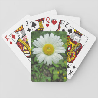 Raindrop On Daisy Poker Cards