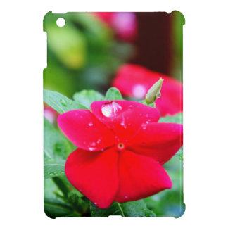 RAINDROP ON PINK FLOWER QUEENSLAND AUSTRALIA iPad MINI CASES