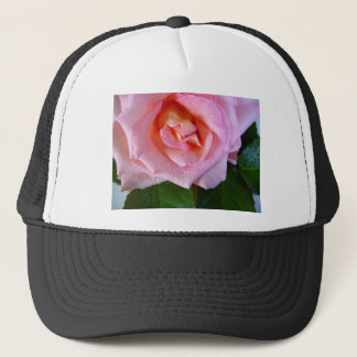 raindrop-rose trucker hat
