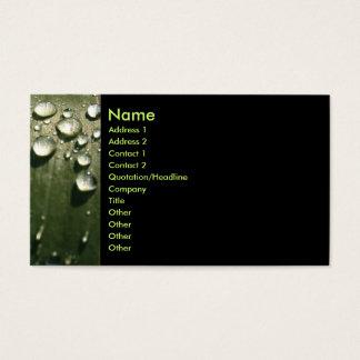 Raindrop Shadows Business Card