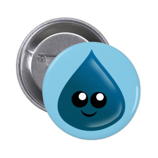 Raindrop, Water drop, Tear drop 2 Inch Round Button