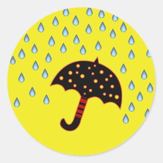 raindrops and umbrella envelope seals