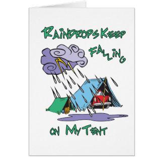 Raindrops Camping Greeting Card
