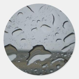 Raindrops Classic Round Sticker