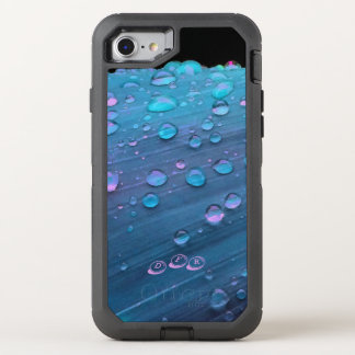 Raindrops Closeup, Spacey Blues OtterBox Defender iPhone 8/7 Case