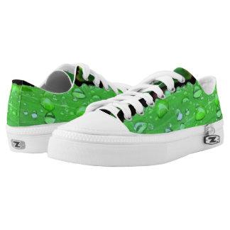 Raindrops Closeup, Spacey Green Low-Top Sneakers