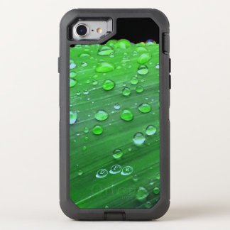 Raindrops Closeup, Spacey Green OtterBox Defender iPhone 8/7 Case