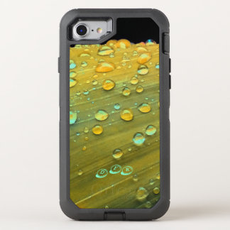 Raindrops Closeup, Spacey Mustard Yellow OtterBox Defender iPhone 8/7 Case
